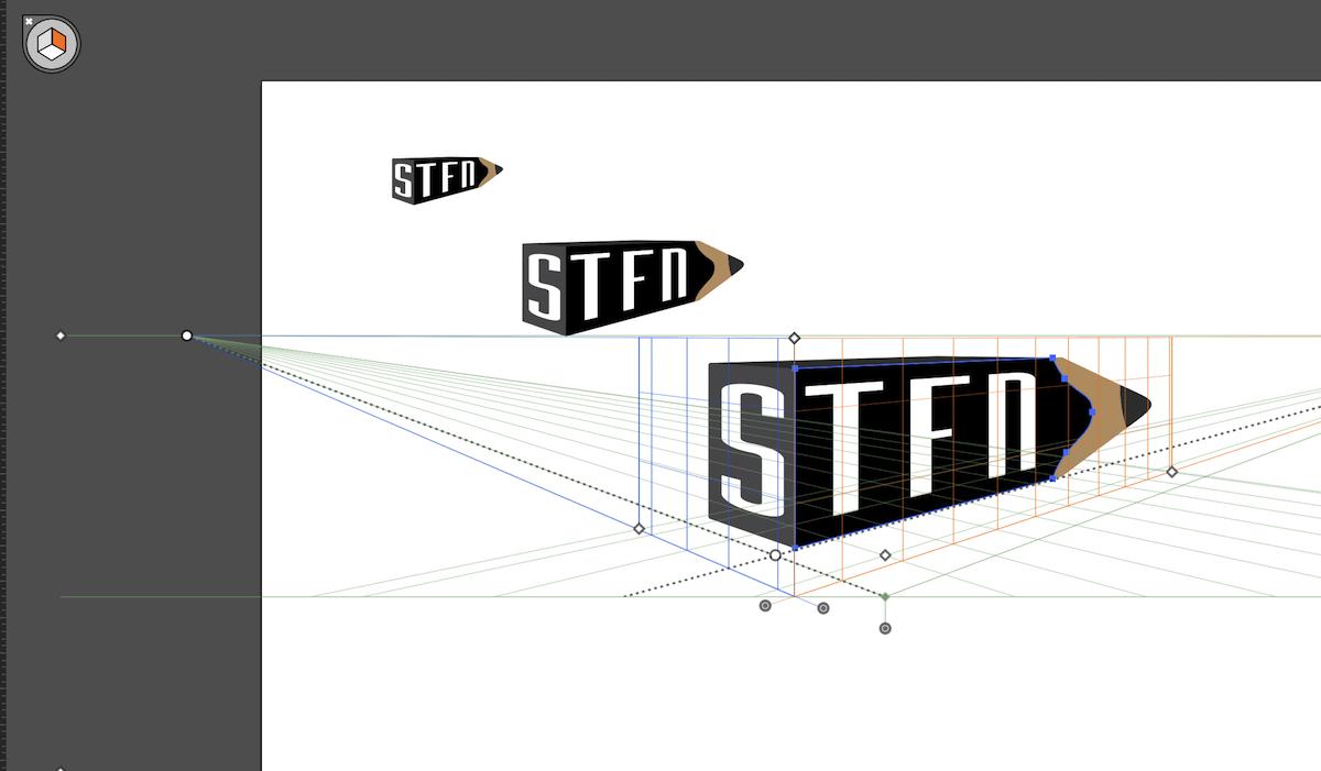 Logo stfn in perspective